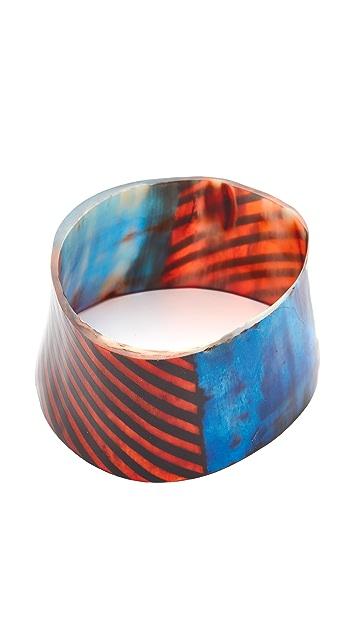 Marni Painted Bracelet in Horn