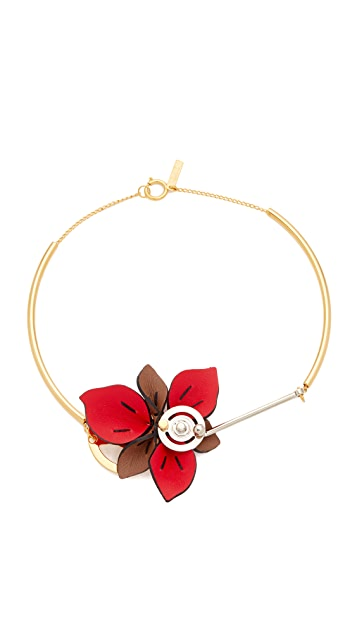 Marni Collier with Leather Flower