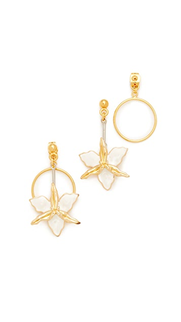 Marni Two-Sided Flower Earrings