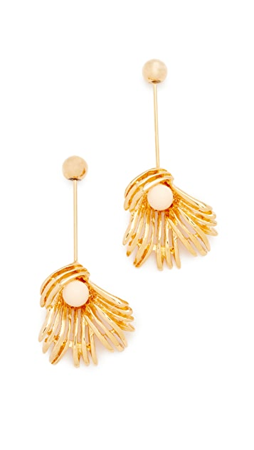 Marni Sphere & Flower Earrings