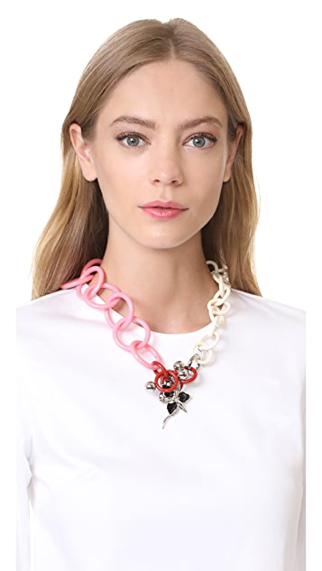 Marni Resin Necklace with Flower