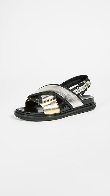 Marni Fusbett Sandals with Buckle