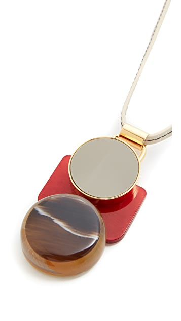 Marni Horn Pendant Necklace