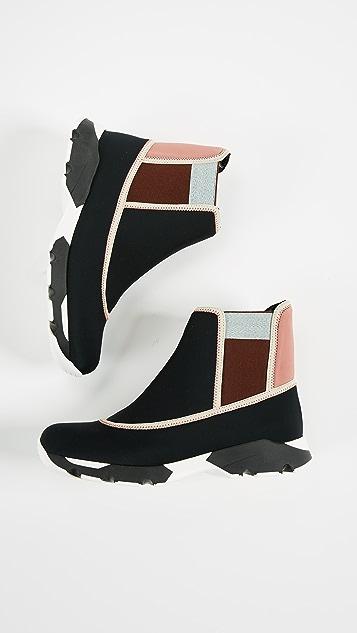 Marni High Top Slip On Sneakers