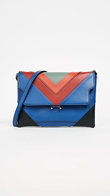 Marni Pochette Cross Body Bag - Tea Green/Cherry/Bluette/Black