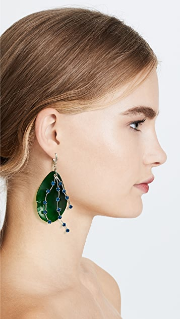 Marni Horn Petal & Strass Earrings