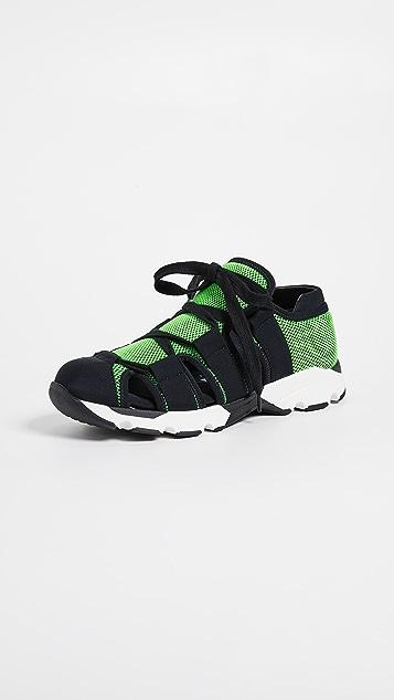 Marni Cutout Sneakers - Acid