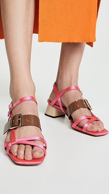 Marni Сандалии на среднем каблуке
