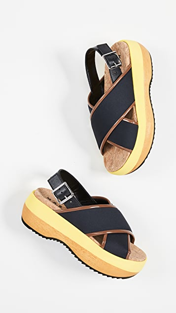Marni Wedge Criss Cross Sandals
