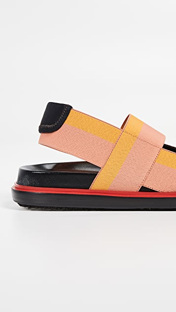 Marni Fussbett Two Band Slingback Sandals