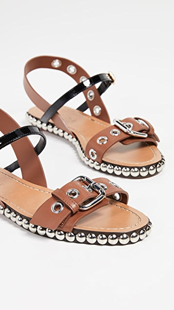 Marni Studded Flat Buckle Sandals