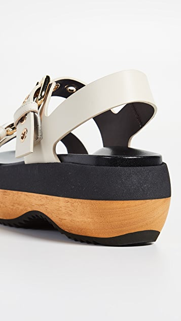 Marni Wedge Buckle Sandals