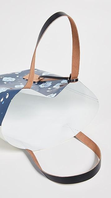 Marni Объемная сумка-шоппер с короткими ручками