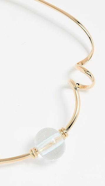 Marni 玻璃和金属项链