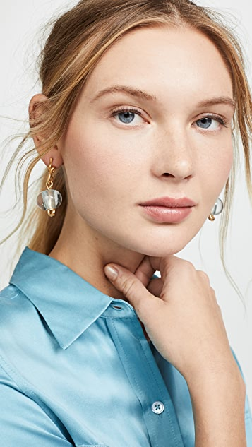 Marni Glass and Metal Linear Drop Earrings