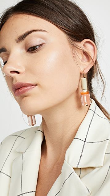 Marni Marble and Metal Earrings
