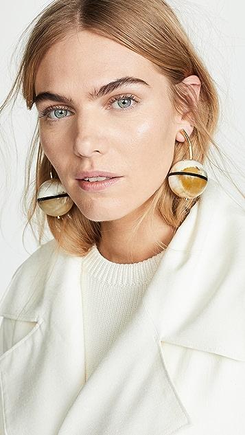 Marni Horn and Metal Earrings