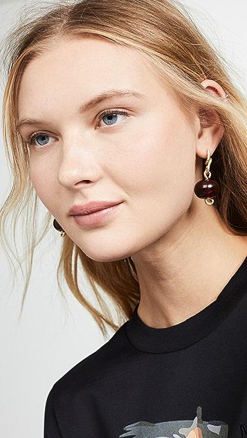 Marni 金属和玻璃耳环