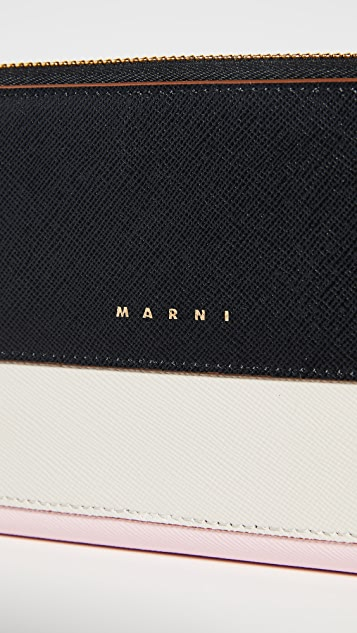 Marni Zip Continental Wallet