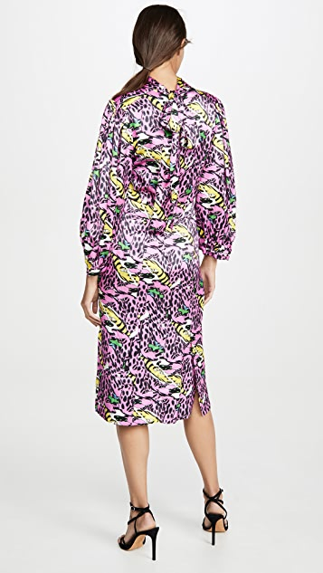Marni Long Sleeve Printed Dress
