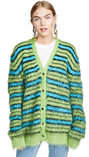 Marni Striped Mohair Cardigan