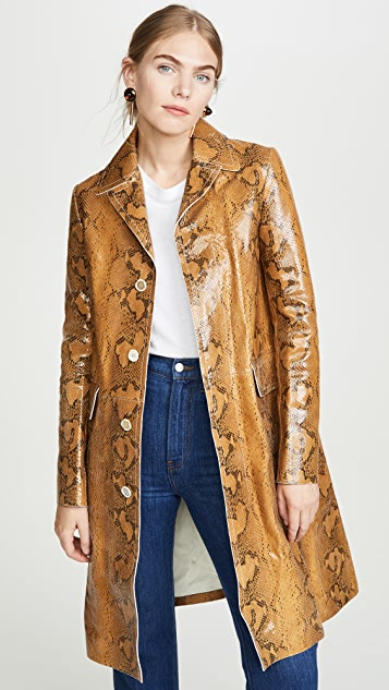 Marni Leather Snake Coat