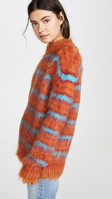 Marni 条纹马海绒衫