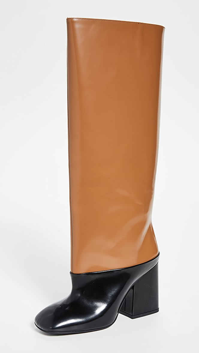 Marni Tall Heeled Colorblock Boots
