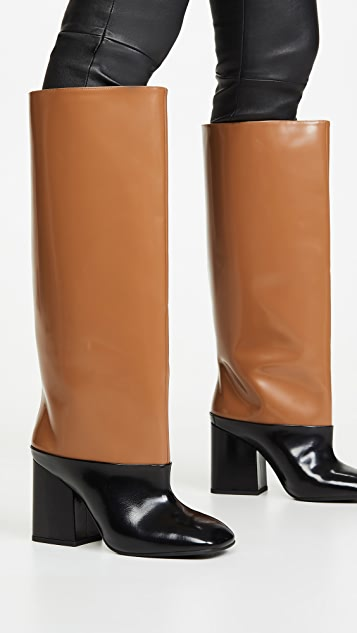 Marni 高跟撞色靴子