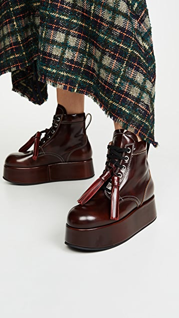 Marni Platform Short Lace Up Boots