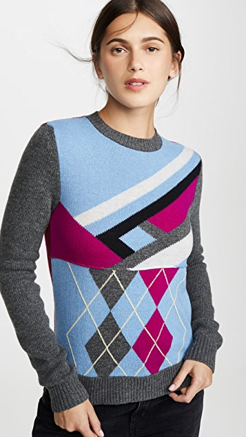 Marni Wool Long Sleeve Crew Neck Sweater