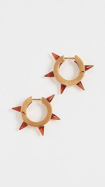 Marni Серьги-кольца из металла и полимера