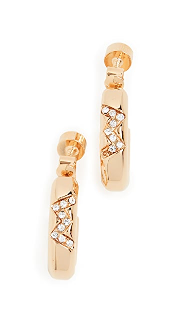 Marni Metal And Strass Earrings