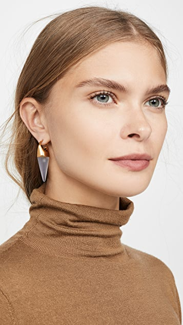 Marni Stone And Metal Earrings