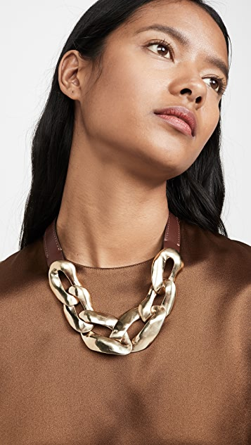 Marni Metal and Leather Necklace