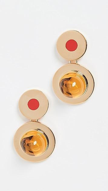 Marni Metal and Resin Earrings