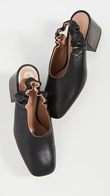 Marni Leather Slingbacks