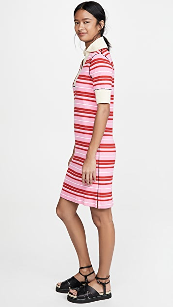 Marni Striped Dress with Collar