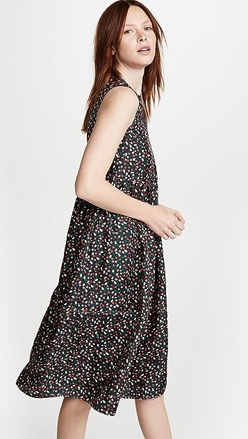 Marni Sleeveless Floral Midi Dress