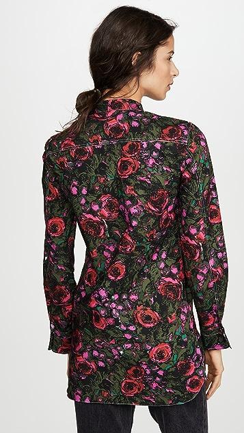 Marni Floral Button Down Blouse