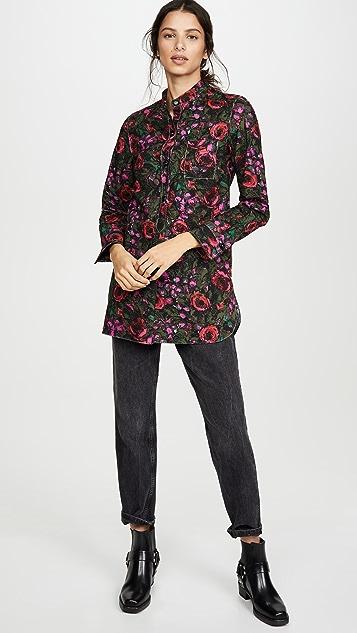 Marni 花卉开襟女式衬衫