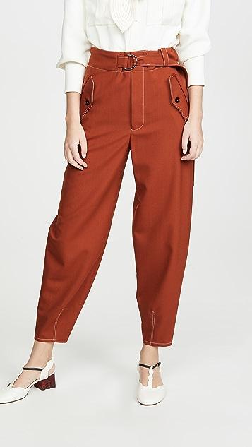 Marni 系腰带裤子