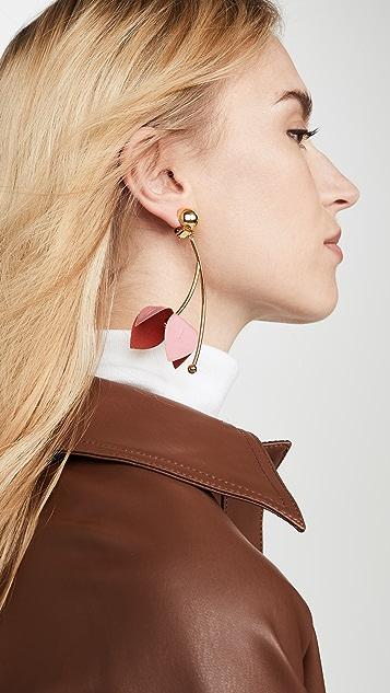 Marni 织物和仿钻耳环