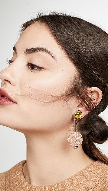 Marni 金属和树脂耳环