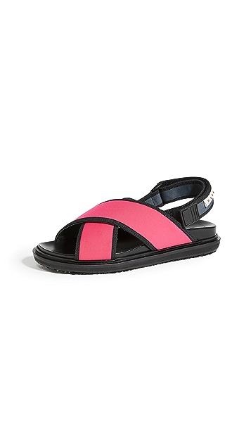 Marni Sporty Fussbett Sandals