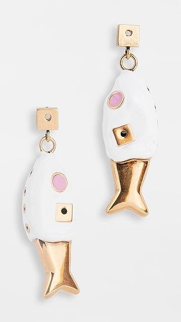 Marni 金属色耳环