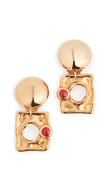 Marni 金属质感耳环