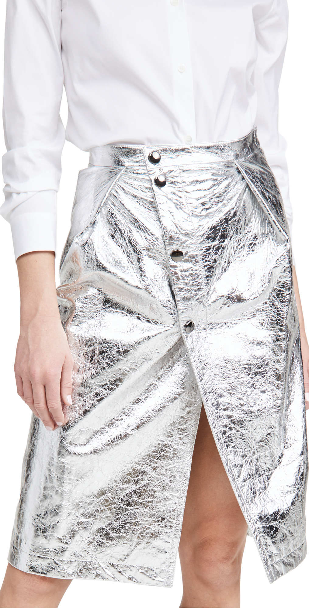 Marni Metallic Leather Skirt