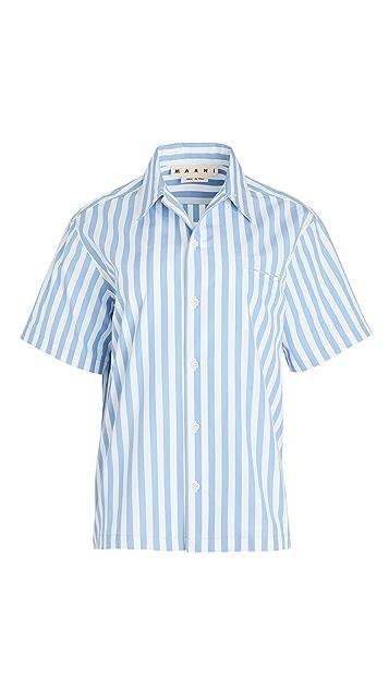 Marni 短袖系扣衬衫