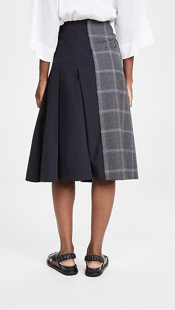 Marni 双色半身裙